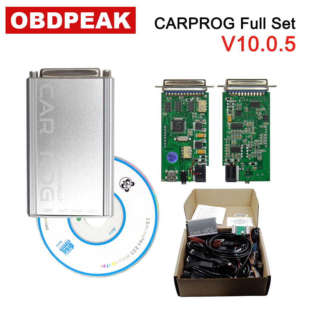 US $68 0 |CARPROG Full Set V10 0 5 Programmer Auto Repair Airbag Reset  Tools With 21 Adapters For Airbag Immobilizer Dashboard Free Ship on