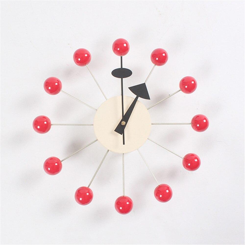 ساعة حائط الإبداعية ديكو الحلوى ساعة دُولابٌ دَوّار ووتش أنيق خلفية أضيق الحدود التعميم الملونة كرات ساعة حائط s-في ساعات الحائط من المنزل والحديقة على  مجموعة 2