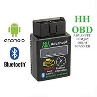 Mini elm327 v2.1 bluetooth hh obd avançado obdii obd2 elm 327 leitor de código scanner diagnóstico do carro ferramenta digitalização azul venda quente|Kit para carro Bluetooth| |  -