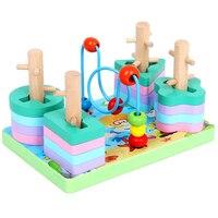ألعاب مونتيسوري ألعاب خشبية تعليمية للأطفال التعلم المبكر ممارسة التدريب العملي على القدرة أشكال هندسية مطابقة الألعاب|ألعاب الرياضيات|الألعاب والهوايات -