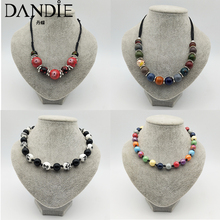 Dandie  Fashion, personality, exquisite, Flower pattern, romantic ceramic bead necklace, Womens fashion acces
