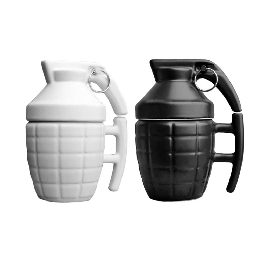 Novelty Grenade Coffee Mugs Practical Water cup with Lid Granada creativa taza de cafe Grenade Tea Cup for birthday gift