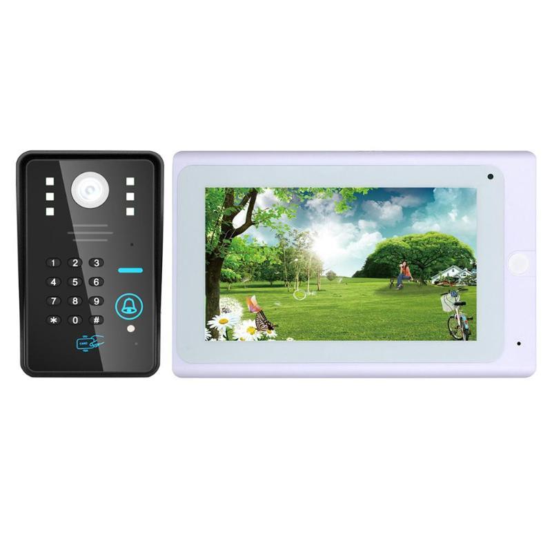 1000TVL Remote Control Wireless Password Doorbell Video Phone Night Vision Intercom System IR LEDs WIFI Indoor Monitor Door Bell цена 2017
