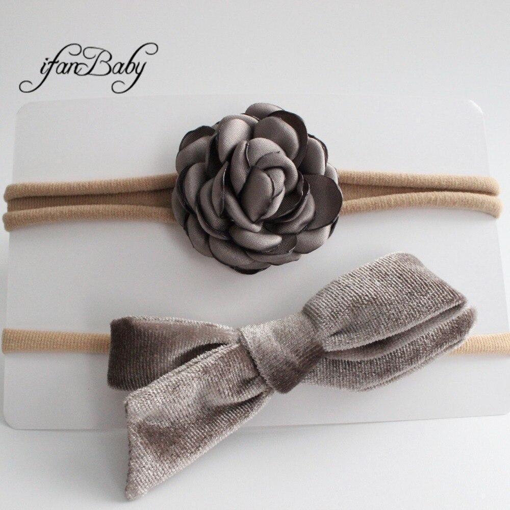 kids girl fabric flower headband nylon headband (1)