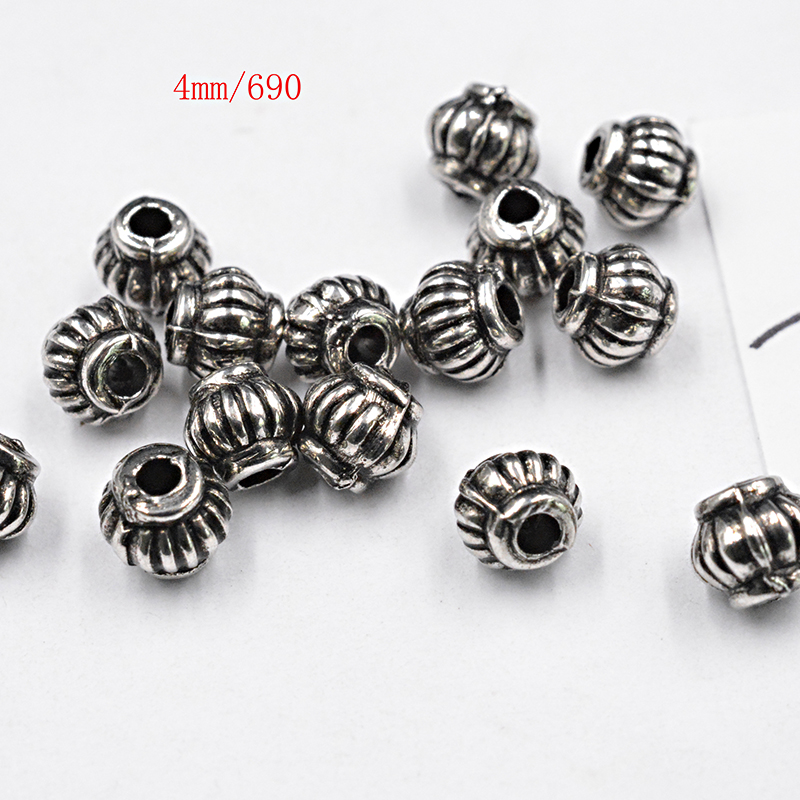 Beads Reasonable Wholesale 100pcs Spacer Charms Tibetan Silver Bronze Metal Spacer Beads 6mm For Jewelry Making Fast Shipping To Reduce Body Weight And Prolong Life