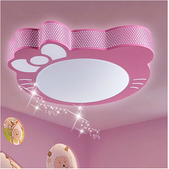 Free Shipping Ketty Cat Hello Kitty Childrens Room Ceiling Lamp - Hello kitty lamps for bedroom