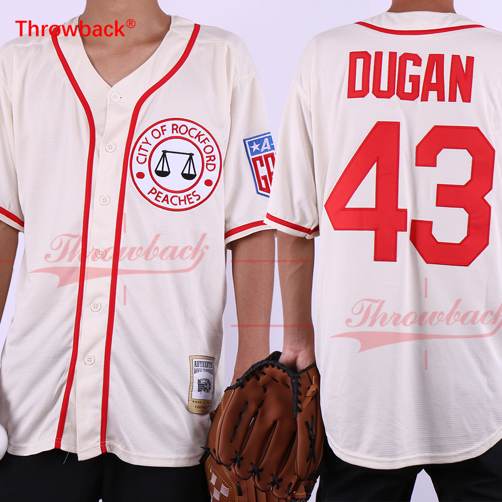 Throwback Tom Hanks 43 Jimmy Dugan Rockford Peaches Baseball Jersey Stitched Men's Movie Baseball Jerseys Free Shipping 5 sets chinese jade eggs for kegel muscles exercises strengthen pelvic floor muscles ben wa ball yoni egg for promotion