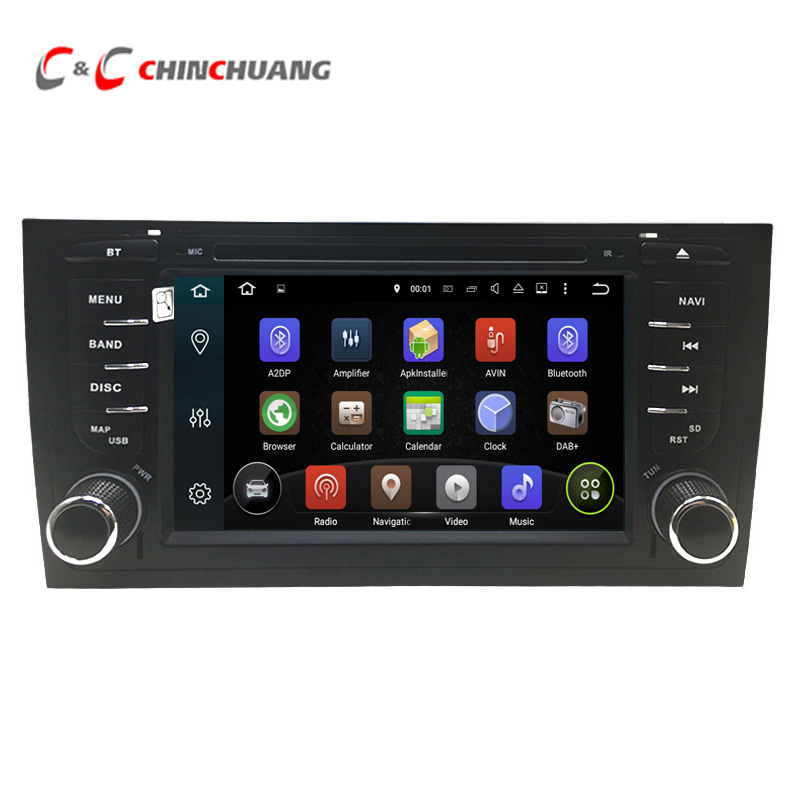 Android 8.1 car dvd player for AUDI S6 RS6 A6 1997-2004 with Radio GPS Wifi HD Digital Screen Mirror Link DVR Audio Video System