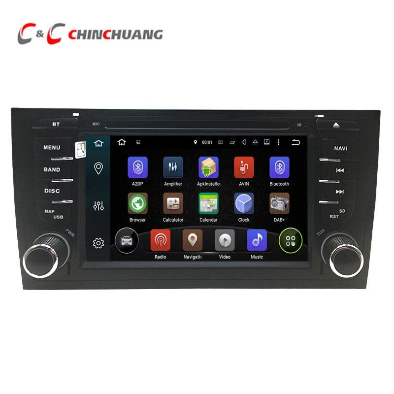 Android 8.1 lecteur dvd de voiture pour AUDI S6 RS6 A6 1997-2004 avec Radio GPS Wifi HD Écran Numérique miroir Lien DVR Audio Vidéo Système