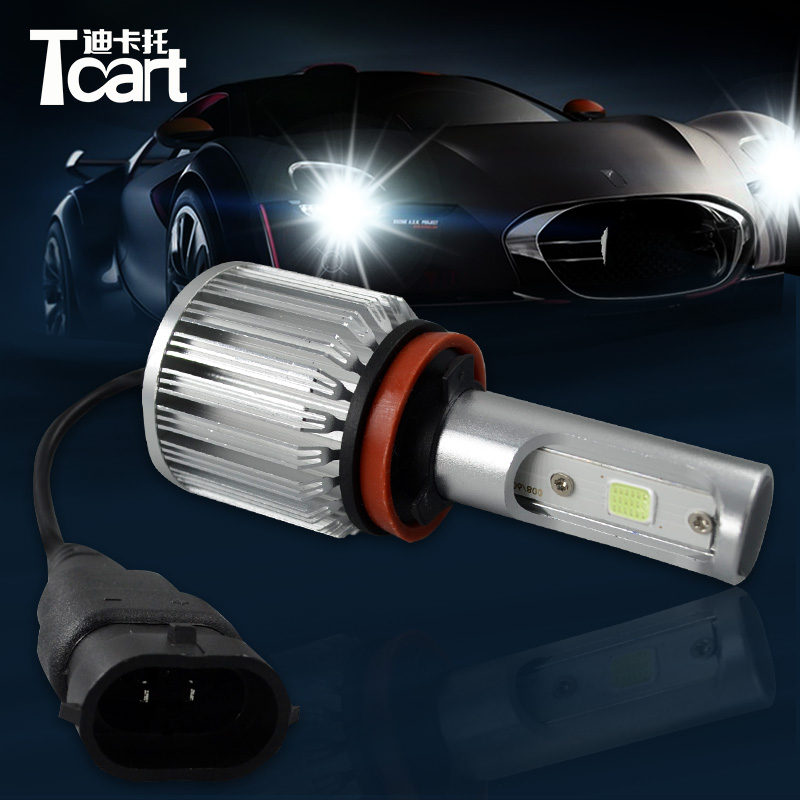 Tcart 2pcs High Bright Car LED H10 Headlight 12V Fog Light For Cars COB LED Light White Bulbs Car Fog Lamp 30W Auto Driving Lamp ironwalls 2pcs set car headlight cree csp chips 72w hi low beam led driving light auto front fog light for audi toyota honda