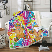 Plstar Cosmos Lisa and Frank Cartoon Blanket 3D print Sherpa on Bed Kids Girl Flower Home Textiles Dreamlike style-7