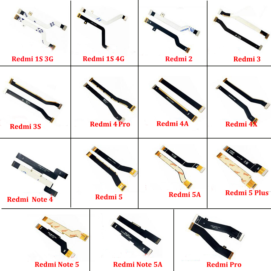 Main Board <font><b>Motherboard</b></font> LCD Display Connector Flex Cable For <font><b>Xiaomi</b></font> <font><b>Redmi</b></font> 1S 2 3 4 4A <font><b>4X</b></font> <font><b>Note</b></font> 4 3S 5A 5 Plus <font><b>Note</b></font> 5 5A <font><b>Redmi</b></font> Pro image
