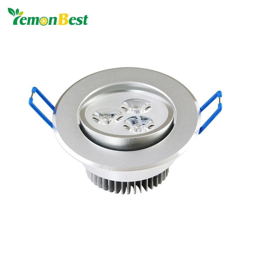 LemonBest 3*3 Вт светодиодные светильники 220 В встраиваемые лампы светодиодные фонари для дома с LED Driver 100-245 В теплый/холодный белый