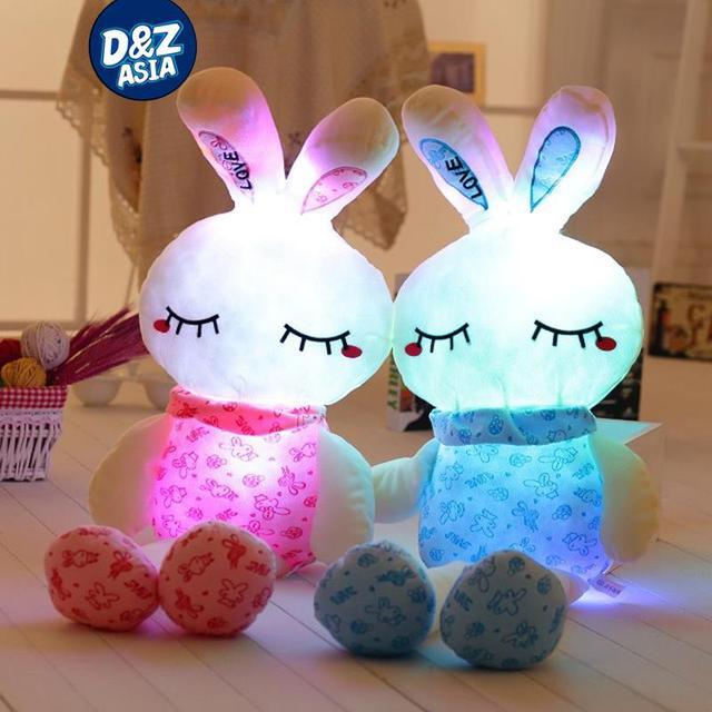 Мигает фрукты любовь кролик плюшевые игрушки красоты длинные ноги застенчивый кролик плюшевый кролик LED Световой кукла Свет Подушку