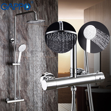 GAPPO shower faucets bathroom thermostatic shower mixer tap waterfall bath shower mixer raninfall shower set wall mounted faucet цена 2017