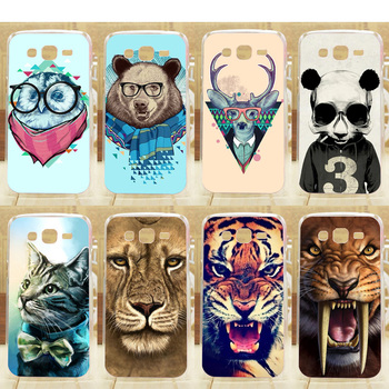 High Quality Painting Cover Hard Case For Samsung G350E Cell Phone Covers Pattern Colorful Animal Back Cases image