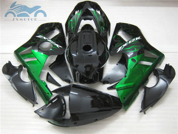 Free Customized fairing kits for ABS plastic fairings kit 2000 2001 ZX 12R zx12r 00 01 02 03 04 05 green flames motorcycle parts