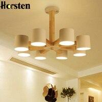 Horsten Modern Art OAK Wooden Pendant Lights Hanging Wood Lamps Dinning Room Restaurant Fixtures Indoor Decoration Pendant Lamp