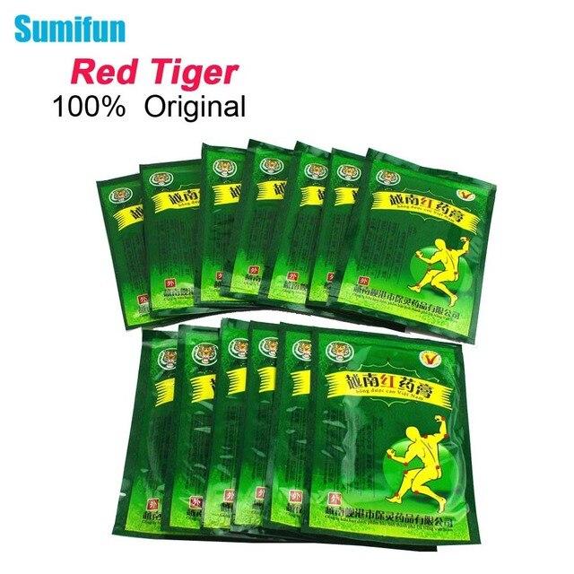 Sumifun 104 шт вьетнамский красный тигр бальзам Боль Штукатурка китайский медицинский, для шеи спины мышцы избавление от боли при артрите патч C162
