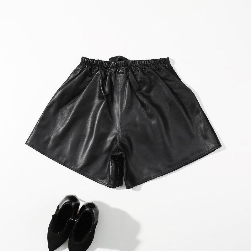 Cuir Dames En Pour Haute Les 2018 Décontracté De Femmes Automne Grande Mouton Taille Véritable Hiver Black Short Noir Peau 1wtTq1S