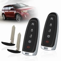 2 Stks 5 Knoppen Lock Unlock Kofferbak Start Paniek Afstandsbediening Sleutelhanger Case Shell Voor Ford Edge Explorer Escape MKS MKT 2011 2012 2013 2014