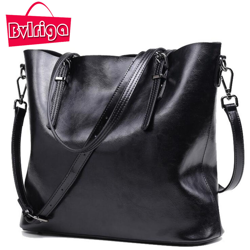 BVLRIGA Cow Genuine Leather Bag Female Shoulder Crossbody Bags For Women Bag Women Leather Handbags Big Black Messenger Bag Tote zency new women genuine leather shoulder bag female long strap crossbody messenger tote bags handbags ladies satchel for girls