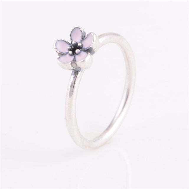 950e8a761 coupon hearts of pandora ring soft pink enamel clear cz 191024en40 54 eu  d2d8b 5f0af; get 2015 new 925 sterling silver ring pink enamel cherry  flower ring ...
