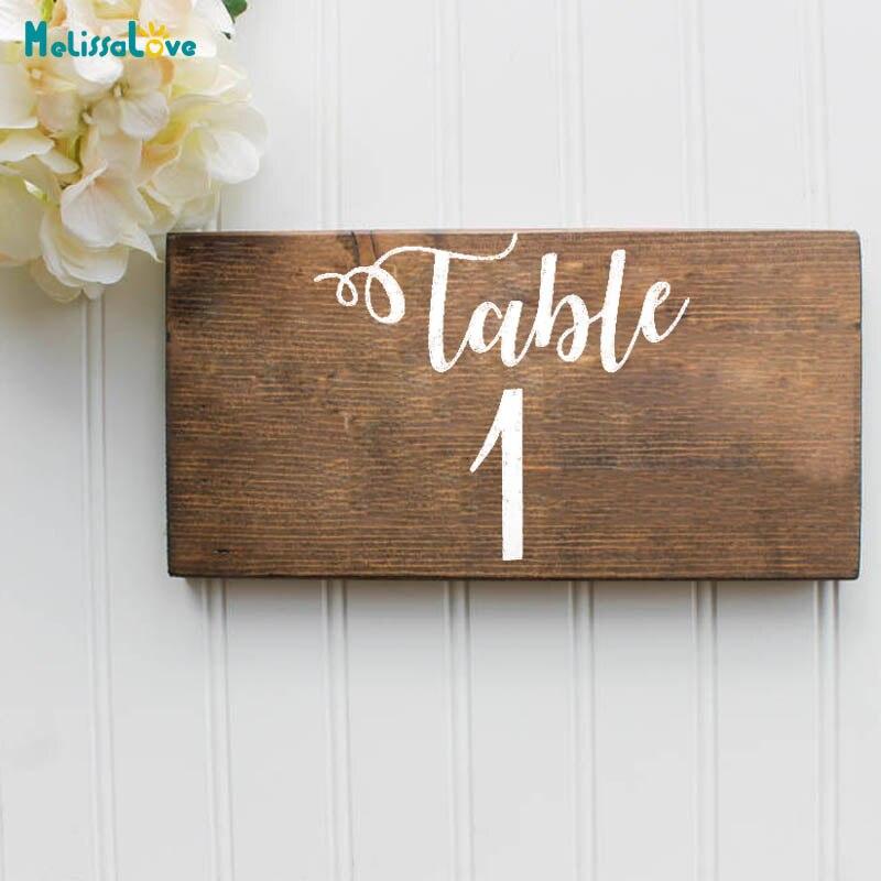 Пользовательский номер свадебного стола, декор для вечеринки, наклейка, виниловый водонепроницаемый лавровый венок, наклейка на приём, знак B276 Наклейки на стену      АлиЭкспресс