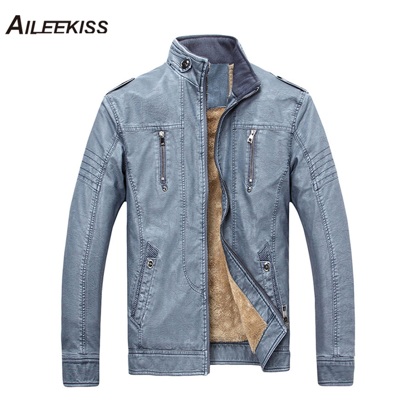 2019 Winter Thick Men Leather Jackets Male Motorcycle Suits Man Brand Casual Bomber Jacket Mans Pilot Jackets Outwear Coat XT556