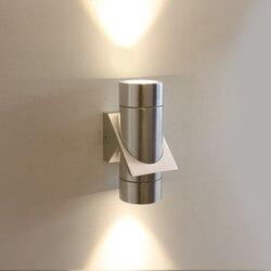 Nowoczesne proste wodoodporna lampa ścienna LED 6 W wewnątrz na zewnątrz ściany światła montowany na ścianie ciepłe białe światło dla sypialnia AC 110 V 220 V