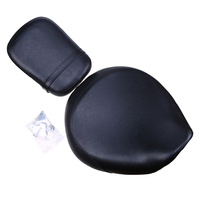 Pillion Passenger Seat Motorcycle Front/Rear Seat PU Leather Cafe Racer Seat Cover Cushion For Honda VT750/400 98 03Scooter Seat