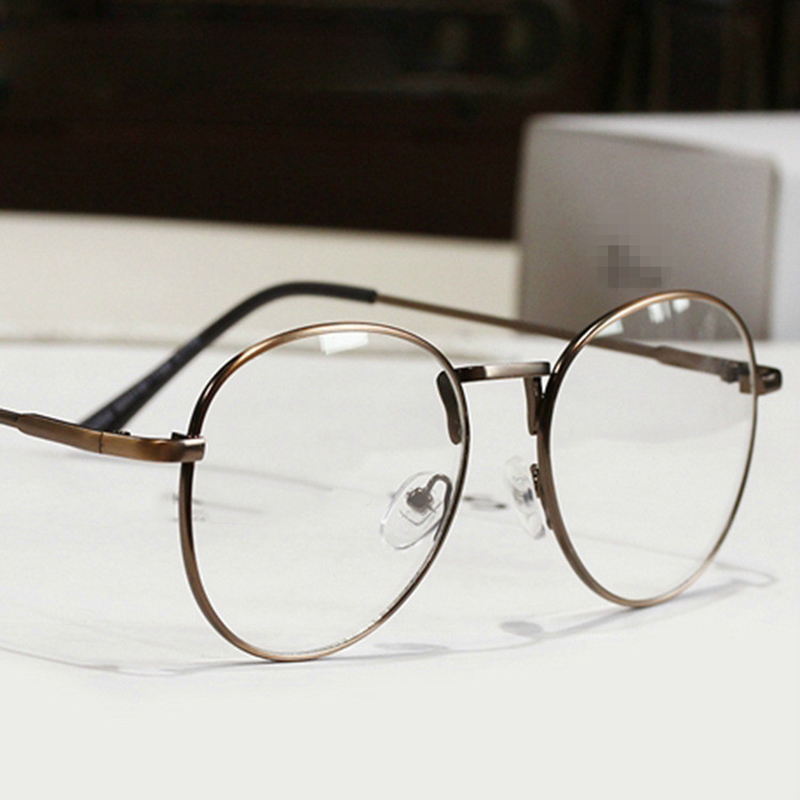 New Fashion Eyeglasses Men Designer Metal Round Eyeglasses