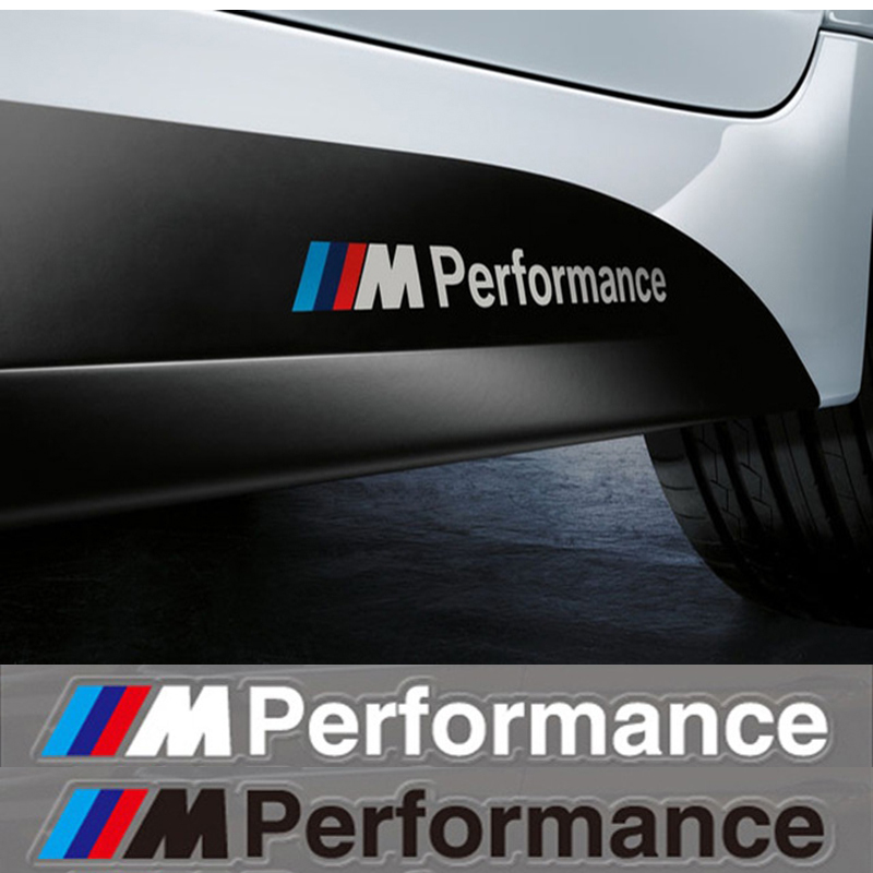2X Car-Styling M Performance Power Motorsport Car Stickers And Decals Kit For BMW X1 X5 X6 3series 5 Series 7 Series Car Styling