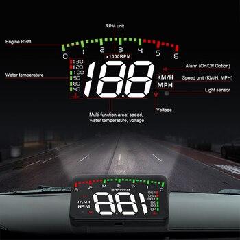 GEYIREN A900 автомобильный HUD OBD RPM метр дисплей на головке система предупреждения о превышении скорости автомобильные аксессуары сигнализация т...