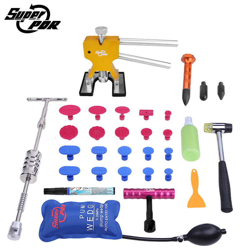 PDR Tools kit Paintless Dent repair hand tools dent lifter dent puller T-bar pump wedge Scratches repair pen dent removal tool pump repair kit db pg0261 for linx 4900 printer