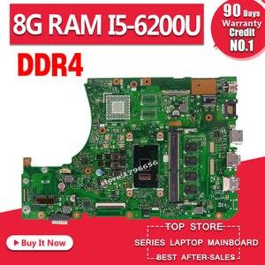 DDR4 X556UAM laptop motherboard para For Asus X556U X556UV X556UQ X556UQK X556UJ A556U K556U F556U mainboard DDR4 8GB RAM I5-6200U
