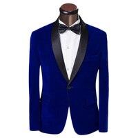 Elegancki mężczyzna Garnitur z Spodnie i Krawaty 2016 Jesień Moda Królewski niebieski Szczupła Garnitur Groom Tuxedo Sukienka Prom Garnitury Ślubne Dla Mężczyzn