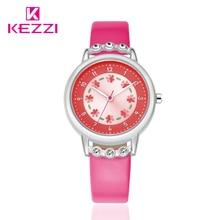 Kezzi Brand Children Watch Rhinestone Fashion Casual Kids Watches Boys Girls Student Waterproof Quartz-Wristwatches Clock