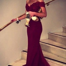 Elegant Wine Red Appliques Long Evening Dress 2019 Sweetheart Off the  Shoulder Mermaid Formal Prom Party 5d8e1cebb5b9