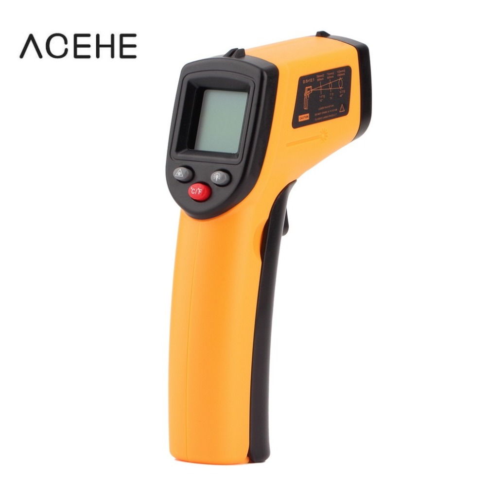Digital Thermometer Non-Contact IR Laser Display Digital Infrared Thermometer Temperature Meter Gun Point -50~380 Dropshipping 2017 bside btm21c infrared thermometer color digital non contact ir laser thermometer k type 30 500 led