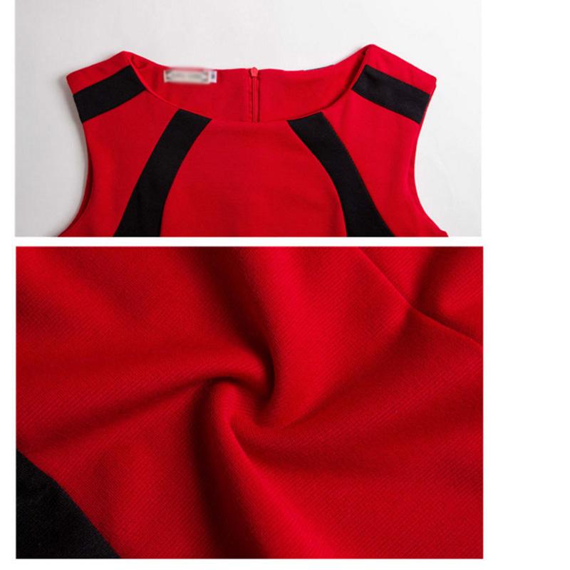 HTB17OYEe3oQMeJjy0Fpq6ATxpXaL - 2018 Summer Women's Bodycon Patchwork Sleeveless Fashion Pencil Midi Sexy Casual Elegant Dresses Plus Size 3xl Tunic Dress
