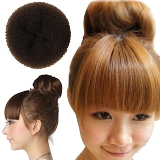 Enrolar 3 PCS Varejo Hair Styling Donut Bun Criador Anel Estilo Bun Scrunchy Sock Poof Bump para cabelo Grande Médio pequeno