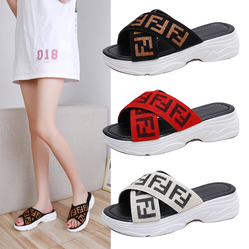 scarpe donna 2019 new fashion women flip flops open toe mixed colors top quality platform wedges heels 5cm women slippersscarpe donna 2019 new fashion women flip flops open toe mixed colors top quality platform wedges heels 5cm women slippers