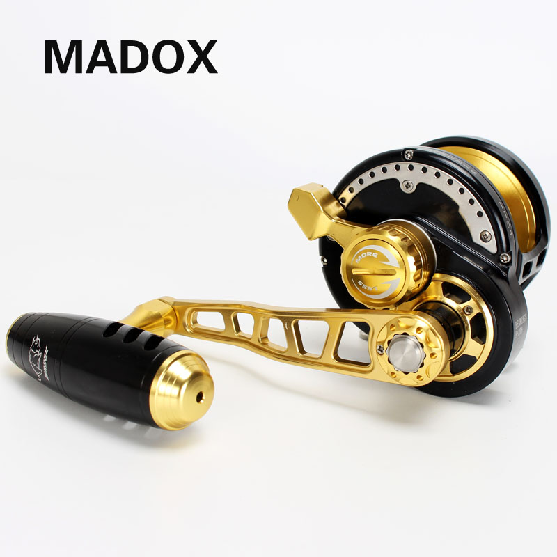 Madox Slow Jigging Reel Pe6 # - 400m Max Drag 35kg 11BB Drum Reel Full Metal Alloy reel Deep-Sea Fishing Trolling Reel