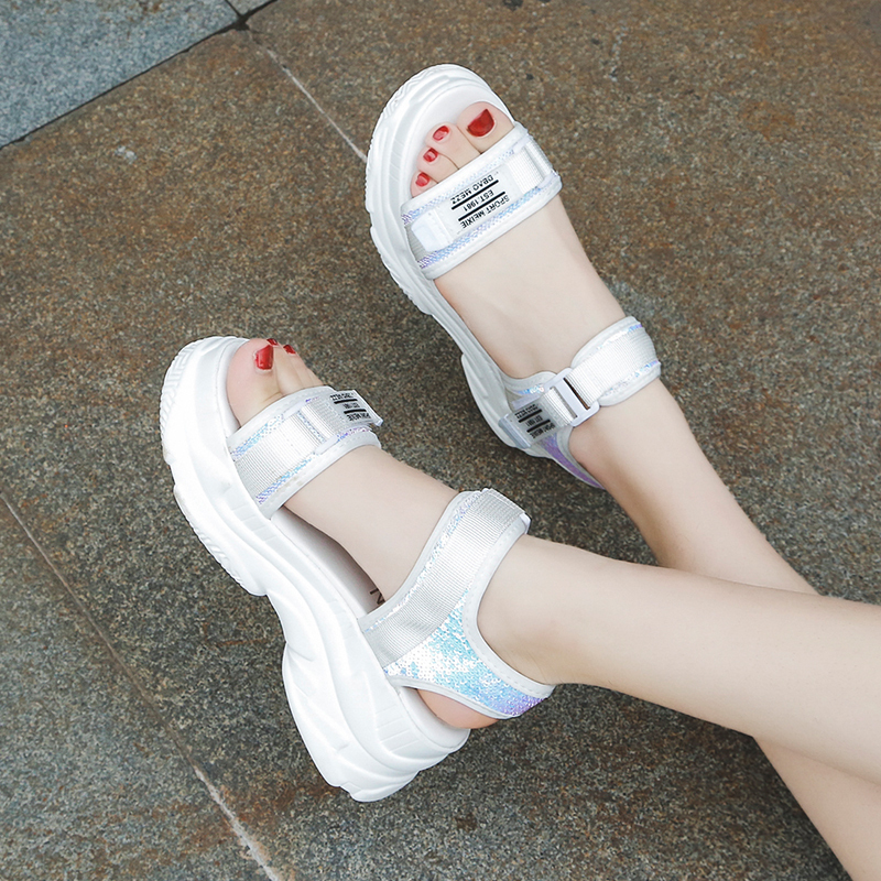 HTB17OYqd.CF3KVjSZJnq6znHFXa7 Fujin High Heeled Sandals Female Summer 2019 Women Thick Bottom Shoes Wedge with Open Toe Platform Shoes Increased Shoes