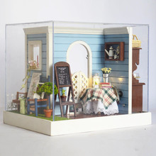 Silvanian Femeli Toys Wooden Toys DIY Cottage Wooden Handmade House Creative Birthday Gift Toys for Children Juguetes Brinquedos sylvanian families house diy french coffee trip handmade house wooden toy crafts for children toys for girls juguetes brinquedos