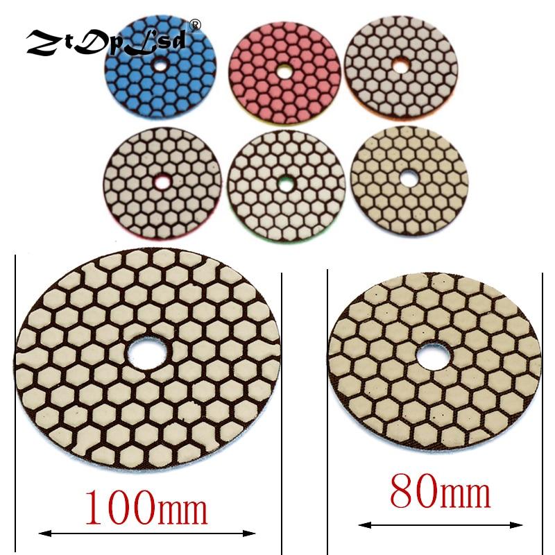 ZtDpLsd 1Pc 80mm 100mm Dry Grinding Disc Polishing Buffing Pads Diamond Wet Flexible Pad Marble Stone Ceramic Tiles Finish Glass