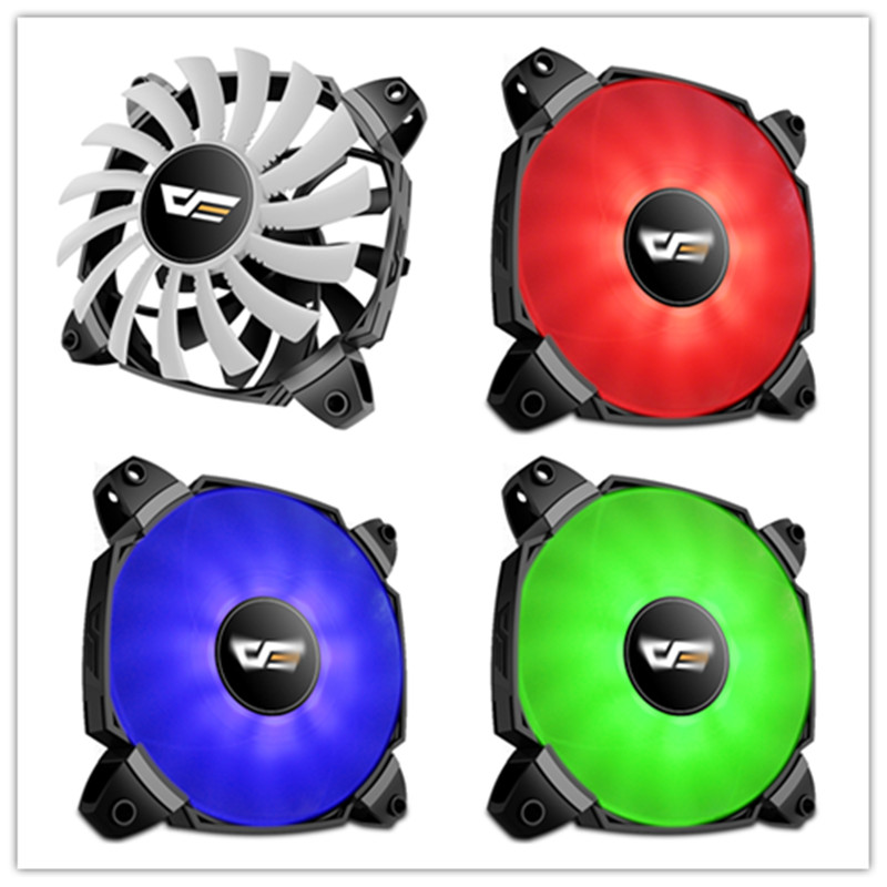 Aigo zr12 icy dual fan leaf blade turbo boost PWM 4pin 120mm Desktop PC Computer Cooling water Cooler Silent Case Fan