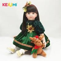 Real Like Princess 60 cm Reborn Baby Dolls Girl Soft Silicone Baby Reborn Stuffed Doll Lifelike Newborn Baby 24'' Kids Playmates