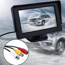 4.3 Pulgadas de Pantalla LCD Digital Display Auto de Coches Vehículos Reproductor de DVD VCR Monitor Retrovisor Cámara de Marcha Atrás
